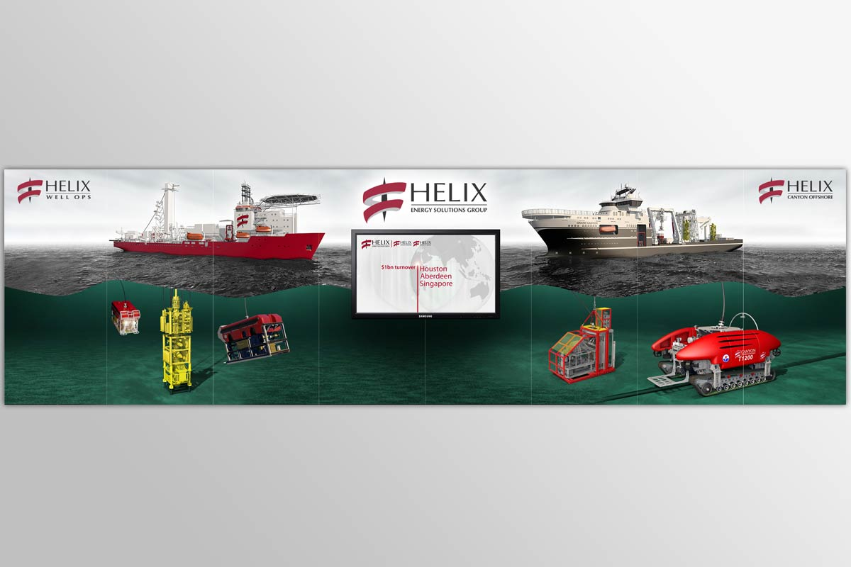 Ewen Milne 3D illustration - HelixESG exhibition graphics