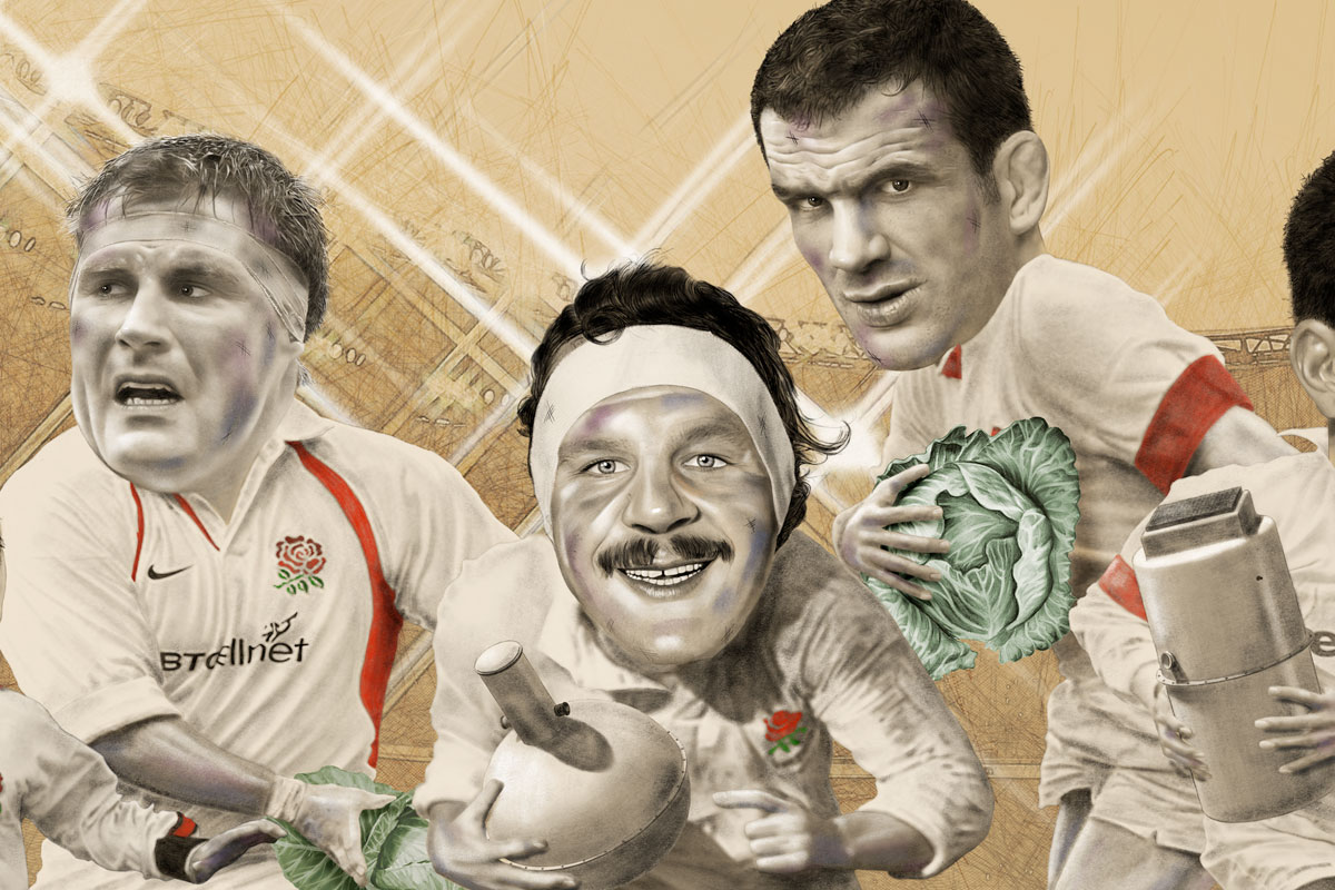 Twickenham rugby illustration